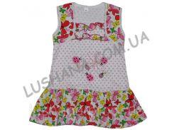 Платье для девочки Божья коровка на рост 80-86 см - Кулир