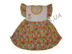 Платье Колокольцы на рост 92-104 см - Кулир