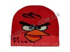 Вязанная шапочка Angry Birds на 6-12 месяцев