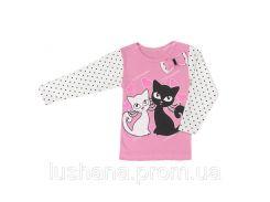 Детская кофта - блуза Котята на рост 98-104 см