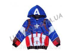 Кофта на молнии Капитан Америка р. 100