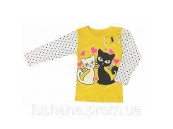 Детская кофта - блуза Котята на рост 104-110 см