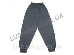Детские однотонные штаны на манжете на рост 86-92 см - Начёс