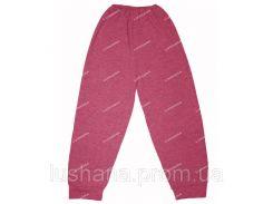 Детские однотонные штаны на манжете на рост 116-122 см - Начёс
