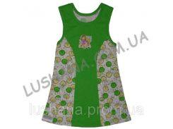 Платье для девочки Каролина на рост 86-92 см - Кулир