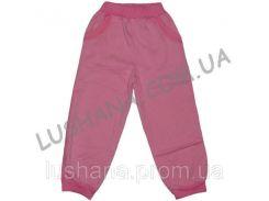 Однотонные штаны на манжете на рост 80-86 см - Трёхнитка