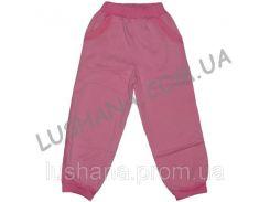 Однотонные штаны на манжете на рост 98-110 см - Трёхнитка