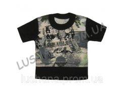 Комбинированная футболка Сюрприз на рост 80-86 см - Кулир