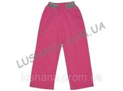 Однотонные штаны с карманами на рост 122-128 см - Начёс