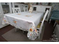 Скатерть атлас люкс с вышивкой, арт. ALT-26440, 150х220 см