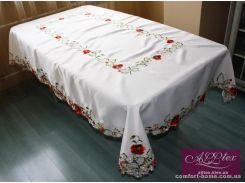 Скатерть атлас люкс с вышивкой, арт. ALT-8128