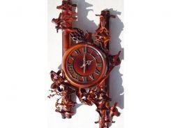 Часы из натуральной кожи и бамбука-Две паралели