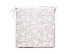 Подушка на стул Прованс White rose с кружевом