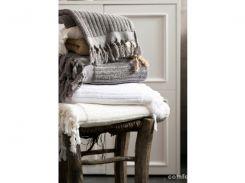 Полотенце Barine - Rib gri серый 43,5*90