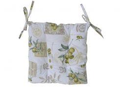 Подушка на стул Прованс Оливка стеганная 40*40 см