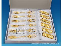 Набор вилочек позолоченных со SWAROVSKI ELEMENTS AR-4278