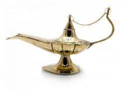 """Лампа Алладина бронзовая (22х13,5х7,5 см)(8"""") ( 20483)"""