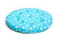 Подушка на стул Прованс Горох-Тифани круглая 40 см диаметр