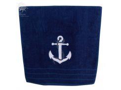 Полотенце, темно-синее, хлопок, Sea Club 600гр,100x50cm (3612.V)