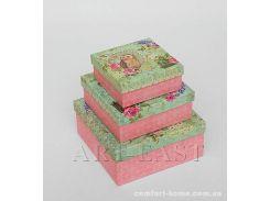 """Набор подарочных коробок из 3 шт. """"Квадрат"""" WE-04"""