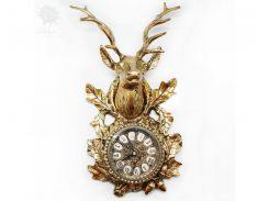 Часы бронзовые настенные «Олень» Virtus, 34х19 см