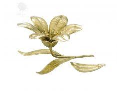Пепельница бронзовая «Цветок» Virtus, h-12,5х22х16,5 см