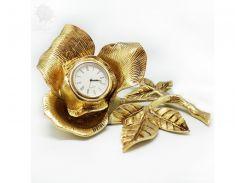 Часы бронзовые настольные «Роза» Virtus, h-10х18,5х17 см