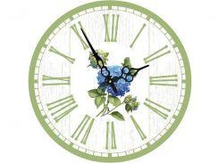Часы круглые настенные ГОРТЕНЗИЯ 34*34 см