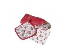Набор кухонный Ливинг Red rose (прихватка, рукавичка, полотенце)