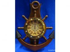 Часы-якорь с маятником (41,5х31х6,5 см) ( 21847)