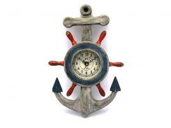 Якорь с часами (33,5х21х4,5 см) ( 28574)