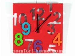 Настенные часы ДомАрт Квадрат Красный