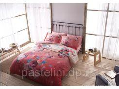ТАС Digital евро комплект постельного белья сатин Botanik pink