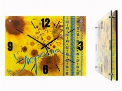 Настенные часы Монтрэ - Подсолнухи и Вышиванка