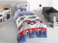 Постельное белье для подростков Eponj Home - Ralli Mavi ранфорс 160*220