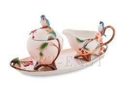 FM-80/ 3 Н-р сахарница и молочник ''Голубые птицы'' (Pavone)