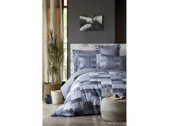 Постельное белье Karaca Home ранфорс - Drina indigo 2019-1 синий евро