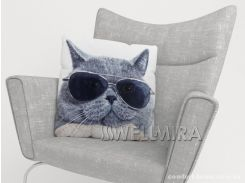 ФотоПодушка Стильный кот, арт. 10 001168