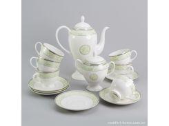 Чайный сервиз Мята Sakura из костяного фарфора 14 предметов арт SK-0502