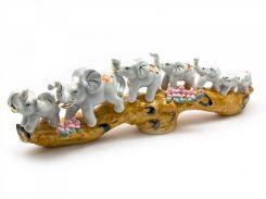 Слоны 7 шт фарфор (39х12,5х7 см) ( 25337)