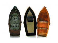 """Ключница с часами """"Лодка"""" (29х14х8 см) ( 18944)"""