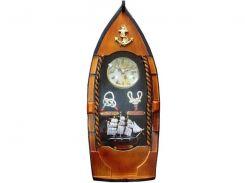 """Ключница с часами """"Лодка"""" (40х15,5х7 см) ( 21424)"""