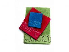 Махровое полотенце Marca Marco Microcotton малиновый