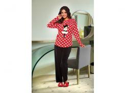 Домашняя одежда Lady Lingerie - Велюровый костюм 15350 L Код  4306