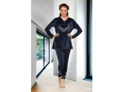 Домашняя одежда Lady Lingerie - Велюровый костюм 15430 XL Код  4290