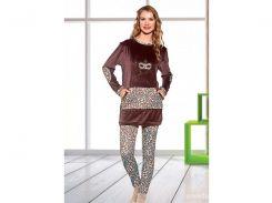 Домашняя одежда Lady Lingerie - Велюровый костюм 15575 L Код  15066