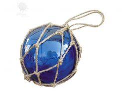 Стеклянный синий шар в сетке Sea Club, d-12,5 см (5825.V)