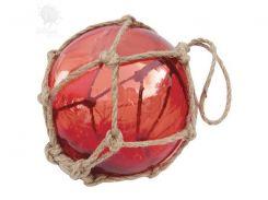 Стеклянный шар в сетке Sea Club, красный, d-17,5 см (5838.V)