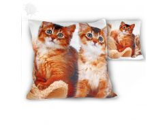 Подушка декоративная на молнии «Коты» Carmani