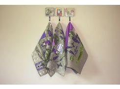 Набор полотенец для кухни Прованс Лаванда 50*60 см MacroHorizon™ 3 шт.